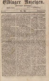 Elbinger Anzeigen, Nr. 70. Mittwoch, 30. August 1854
