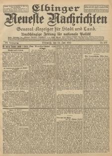 Elbinger Neueste Nachrichten, Nr. 159 Mittwoch 10 Juli 1912 64. Jahrgang