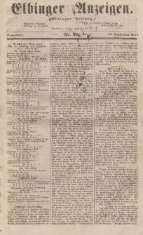 Elbinger Anzeigen, Nr. 75. Sonnabend, 16. September 1854