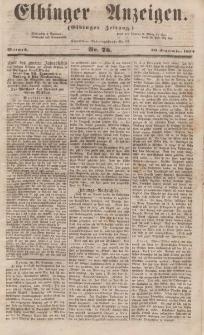 Elbinger Anzeigen, Nr. 76. Mittwoch, 20. September 1854
