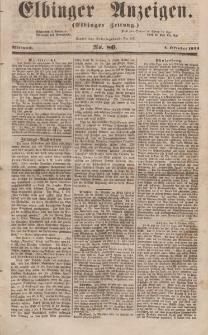 Elbinger Anzeigen, Nr. 80. Mittwoch, 4. Oktober 1854