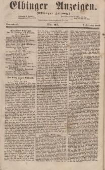 Elbinger Anzeigen, Nr. 81. Sonnabend, 7. Oktober 1854