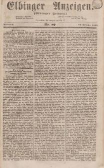 Elbinger Anzeigen, Nr. 87. Mittwoch, 25. Oktober 1854