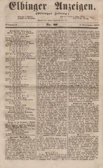 Elbinger Anzeigen, Nr. 90. Sonnabend, 4. November 1854
