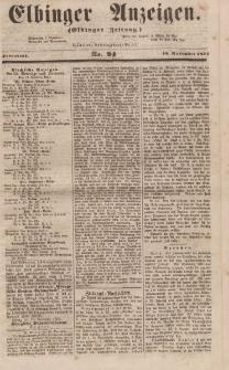 Elbinger Anzeigen, Nr. 94. Sonnabend, 18. November 1854