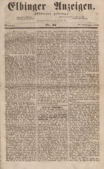 Elbinger Anzeigen, Nr. 97. Mittwoch, 29. November 1854