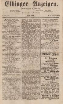 Elbinger Anzeigen, Nr. 98. Sonnabend, 2. Dezember 1854