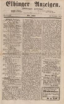 Elbinger Anzeigen, Nr. 102. Sonnabend, 16. Dezember 1854