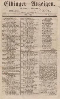 Elbinger Anzeigen, Nr. 104. Sonnabend, 23. Dezember 1854