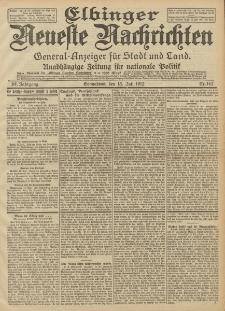 Elbinger Neueste Nachrichten, Nr. 162 Sonnabend 13 Juli 1912 64. Jahrgang