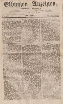 Elbinger Anzeigen, Nr. 105. Mittwoch, 27. Dezember 1854