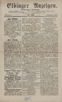 Elbinger Anzeigen, Nr. 105. Sonnabend, 5. November 1870