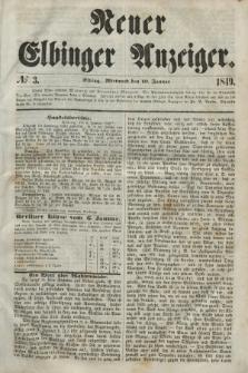 Neuer Elbinger Anzeiger, Nr. 3. Mittwoch, 10. Januar 1849