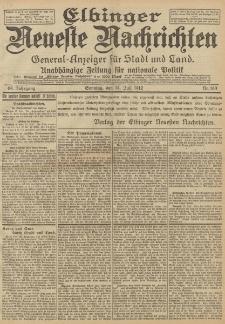 Elbinger Neueste Nachrichten, Nr. 163 Sonntag 14 Juli 1912 64. Jahrgang