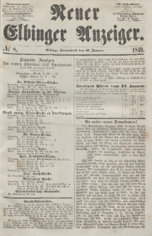 Neuer Elbinger Anzeiger, Nr. 8. Sonnabend, 27. Januar 1849