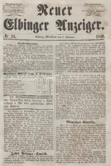 Neuer Elbinger Anzeiger, Nr. 11. Mittwoch, 7. Februar 1849