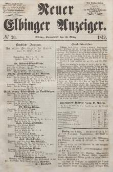 Neuer Elbinger Anzeiger, Nr. 20. Sonnabend, 10. März 1849