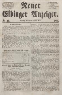 Neuer Elbinger Anzeiger, Nr. 21. Mittwoch, 14. März 1849