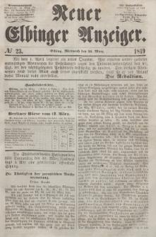 Neuer Elbinger Anzeiger, Nr. 23. Mittwoch, 21. März 1849