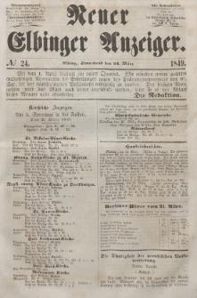 Neuer Elbinger Anzeiger, Nr. 24. Sonnabend, 24. März 1849