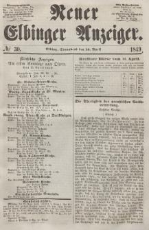 Neuer Elbinger Anzeiger, Nr. 30. Sonnabend, 14. April 1849