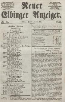 Neuer Elbinger Anzeiger, Nr. 35. Dienstag, 1. Mai 1849
