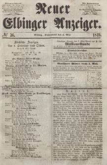 Neuer Elbinger Anzeiger, Nr. 36. Sonnabend, 5. Mai 1849