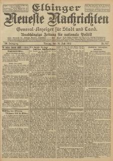Elbinger Neueste Nachrichten, Nr. 167 Freitag 19 Juli 1912 64. Jahrgang