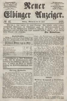 Neuer Elbinger Anzeiger, Nr. 47. Mittwoch, 13. Juni 1849
