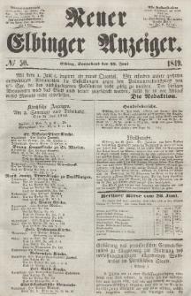 Neuer Elbinger Anzeiger, Nr. 50. Sonnabend, 23. Juni 1849