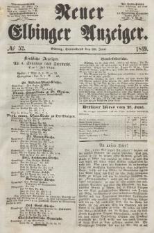 Neuer Elbinger Anzeiger, Nr. 52. Sonnabend, 30. Juni 1849