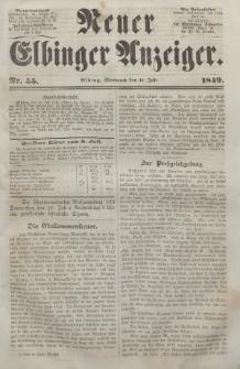 Neuer Elbinger Anzeiger, Nr. 55. Mittwoch, 11. Juli 1849