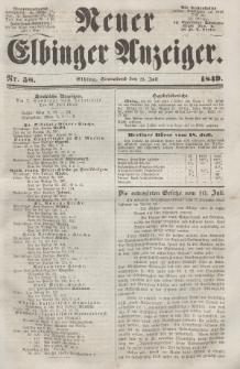 Neuer Elbinger Anzeiger, Nr. 58. Sonnabend, 21. Juli 1849