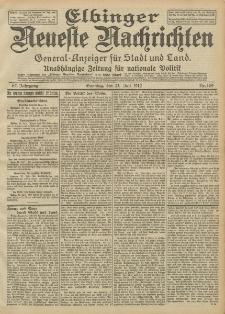 Elbinger Neueste Nachrichten, Nr. 169 Sonntag 21 Juli 1912 64. Jahrgang