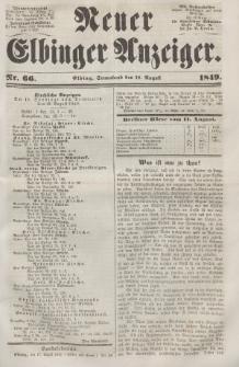 Neuer Elbinger Anzeiger, Nr. 66. Sonnabend, 18. August 1849