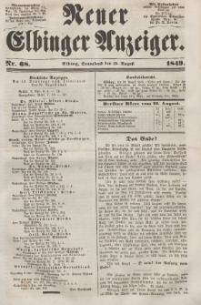 Neuer Elbinger Anzeiger, Nr. 68. Sonnabend, 25. August 1849