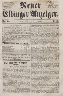 Neuer Elbinger Anzeiger, Nr. 69. Mittwoch, 29. August 1849