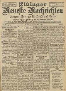 Elbinger Neueste Nachrichten, Nr. 171 Mittwoch 24 Juli 1912 64. Jahrgang