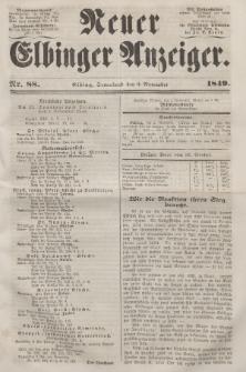 Neuer Elbinger Anzeiger, Nr. 88. Sonnabend, 3. November 1849