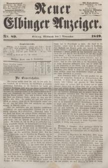 Neuer Elbinger Anzeiger, Nr. 89. Mittwoch, 7. November 1849