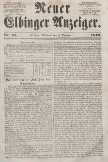Neuer Elbinger Anzeiger, Nr. 95. Mittwoch, 28. November 1849