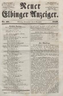 Neuer Elbinger Anzeiger, Nr. 98. Sonnabend, 8. Dezember 1849