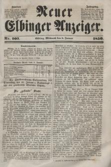 Neuer Elbinger Anzeiger, Nr. 107. Mittwoch, 9. Januar 1850