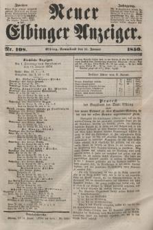 Neuer Elbinger Anzeiger, Nr. 108. Sonnabend, 12. Januar 1850