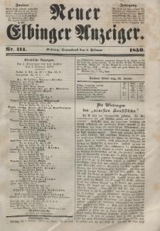 Neuer Elbinger Anzeiger, Nr. 114. Sonnabend, 2. Februar 1850