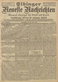 Elbinger Neueste Nachrichten, Nr. 174 Sonnabend 27 Juli 1912 64. Jahrgang