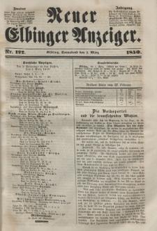 Neuer Elbinger Anzeiger, Nr. 122. Sonnabend, 2. März 1850