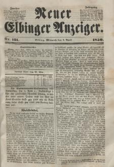 Neuer Elbinger Anzeiger, Nr. 131. Mittwoch, 3. April 1850