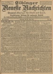 Elbinger Neueste Nachrichten, Nr. 176 Dienstag 30 Juli 1912 64. Jahrgang