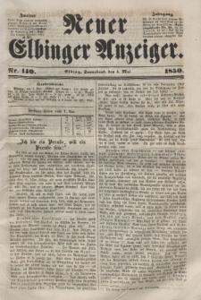 Neuer Elbinger Anzeiger, Nr. 140. Sonnabend, 4. Mai 1850